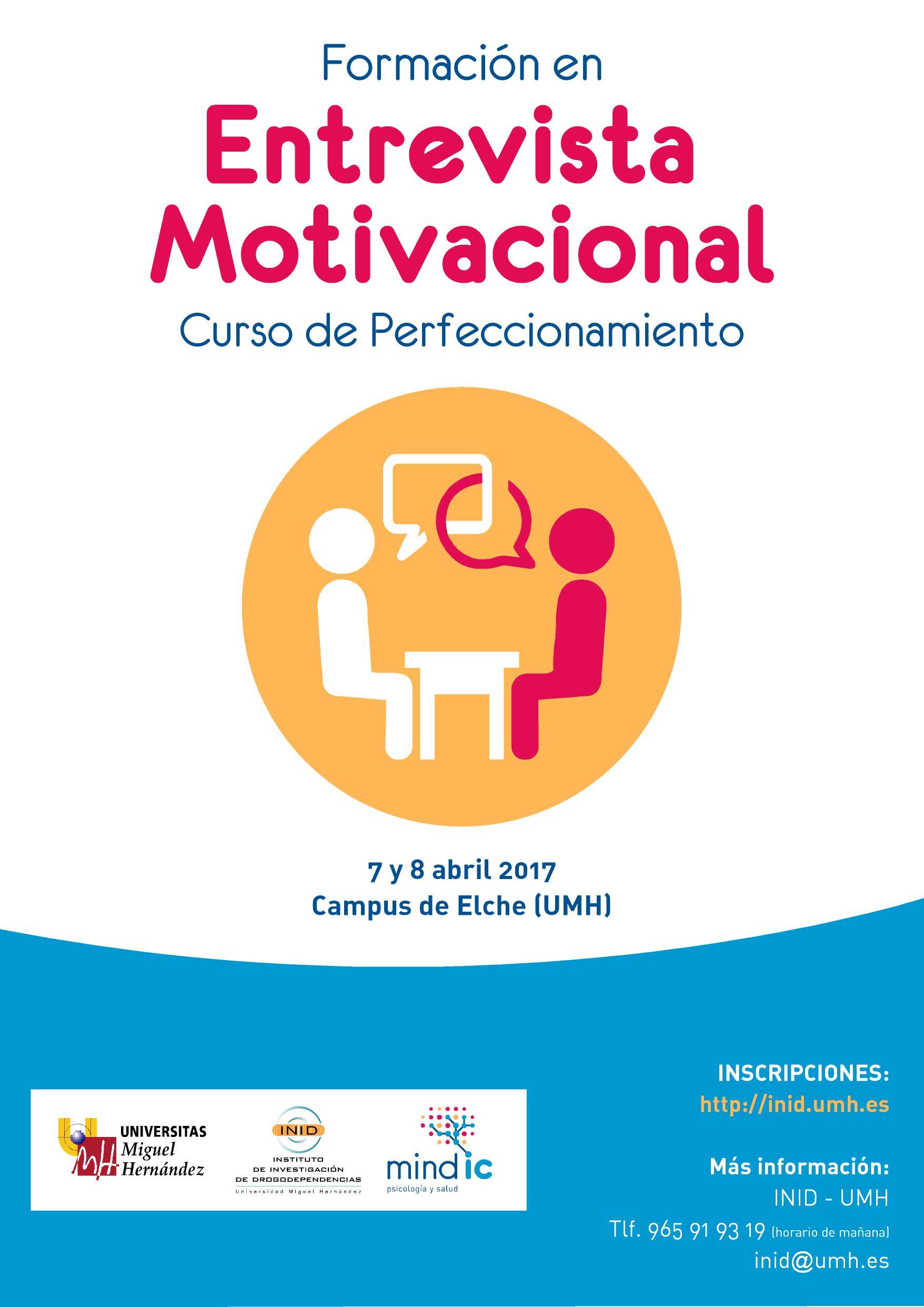 Formación En Entrevista Motivacional Nivel I Mindic