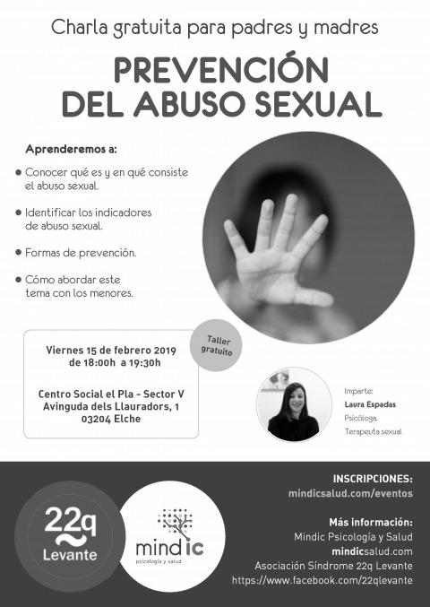 Cartel taller prevención abuso sexual