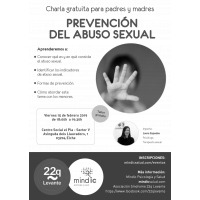 Cartel taller prevención abuso sexual