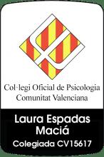 Psicóloga colegiada Laura Espadas